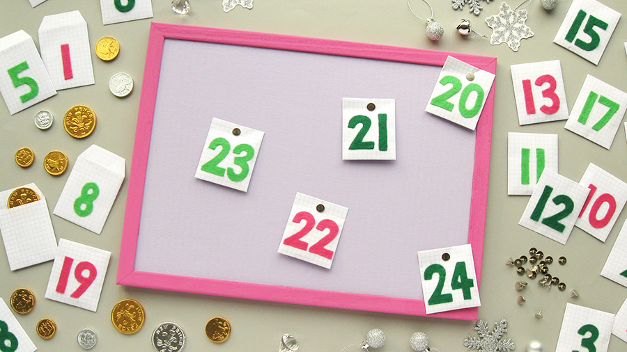 corkboard advent calendar