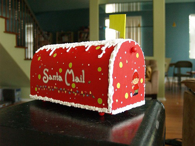 santa mailbox diy christmas