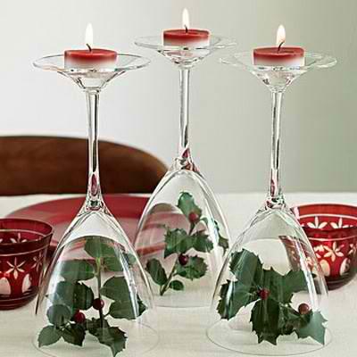 wine glass centerpiece diy christmas