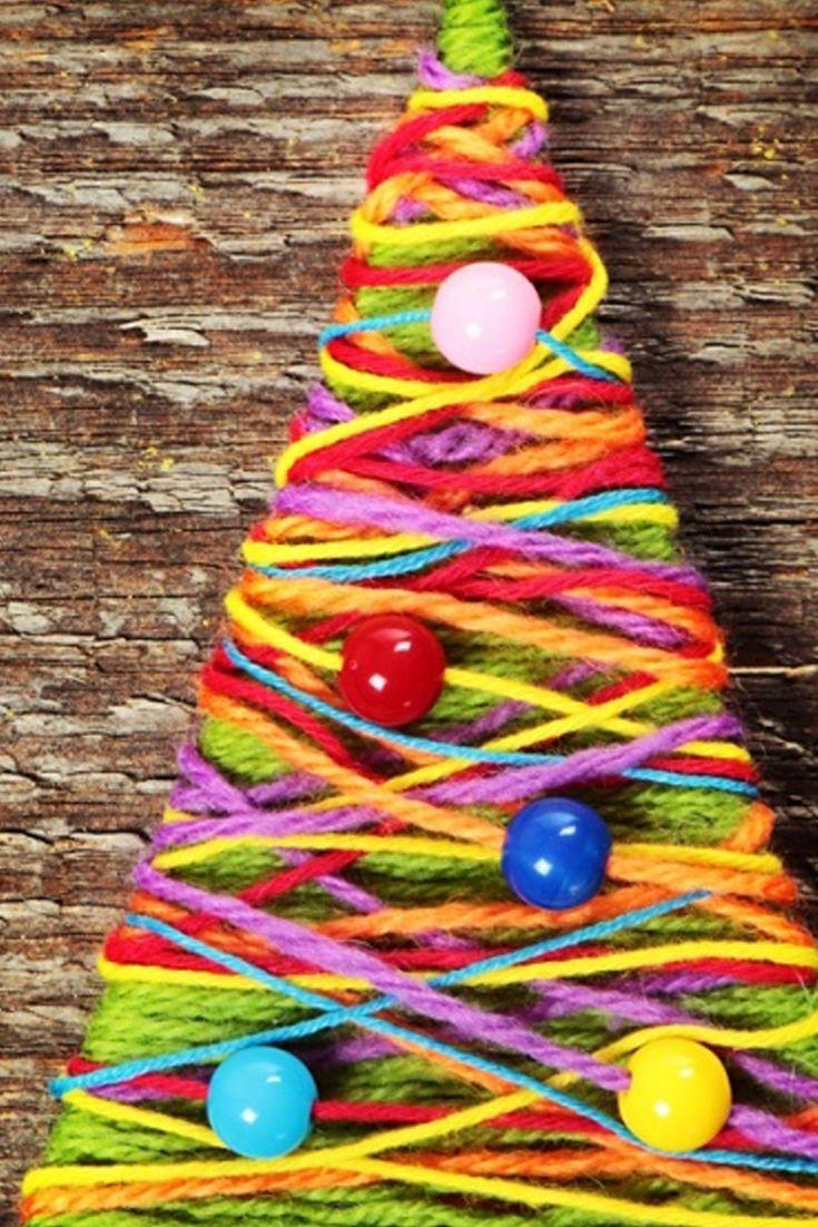 yarn forest diy christmas