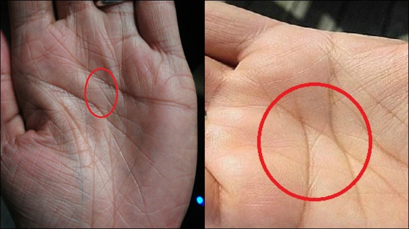 letter x on both palms meaning