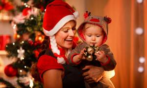 single parent Christmas holidays celebration