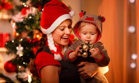 single parent Christmas holidays celebration