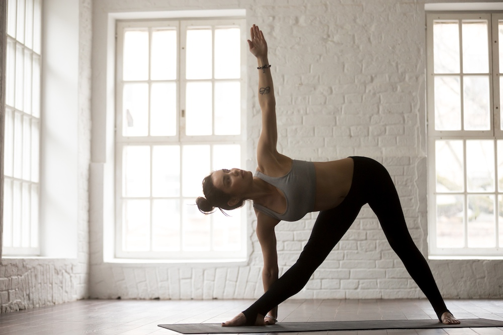 What are the benefits of the triangle pose?