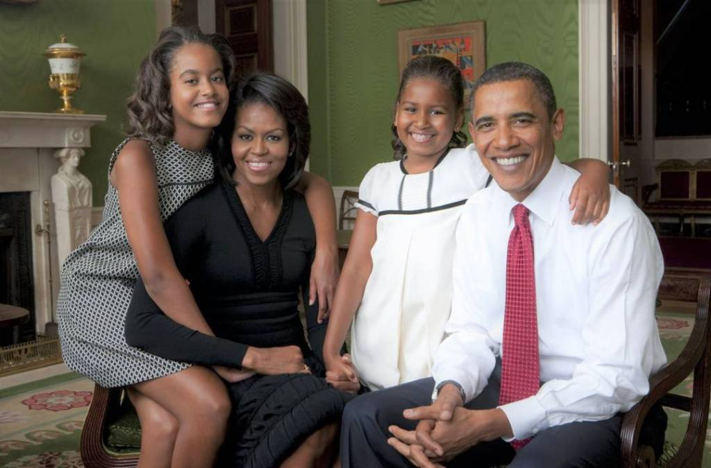 Barack and Michelle Obama family